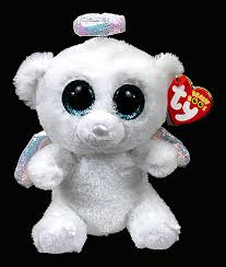 ty beanie boos type bear halo birthday june 19th