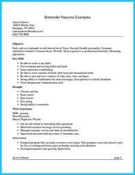 bartending resume hitecauto us