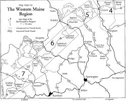 Portland Trails Map by North U0026 South Crocker Mountain N2backpacking Com
