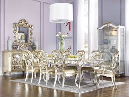 dining room antique white set mirror decorating ideas luxury table