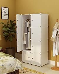 Armoire With Hanging Space Amazon Com Tespo Portable Clothes Closet Wardrobe Freestanding