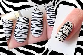 zebra pattern nail art zebra nails easy zebra print nail art tutorial nail designs