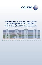 introduction to the aviation system block upgrades asbu modules