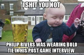 Philip Rivers Meme - i shit you not philip rivers was wearing bolo tie in his post game