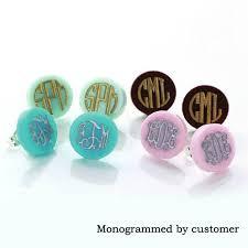 Monogramed Jewelry Aliexpress Com Buy Monogram Jewelry 16mm Post Earrings Mint