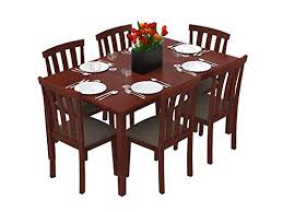 Six Seater Dining Table And Chairs Buy 6 Seater Wooden Glass Dining Sets Dining Room