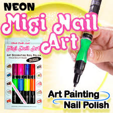 Migi Nail Art Design Ideas Migi Nail Art Kit Neon Nail Polish Pens Asseenontv Com