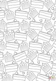 cake pattern coloring page free printable coloring pages