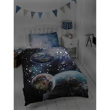 Single Bed Linen Sets Kids Glow In The Dark Single Duvet Set Planets Bedding