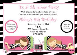 free printable slumber party birthday invitations cimvitation