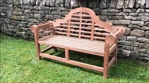 Teak Garden Benches Deluxe Lutyens Teak Garden Bench 167cm Teak Bench Company Youtube