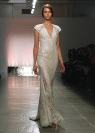 Rita Vinieris Wedding Dresses Designer by Rivini Alluring Cap Sleeve Sheath Wedding Gown