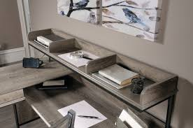 L Desk With Hutch Three Posts Oakside L Shape Computer Desk With Hutch U0026 Reviews
