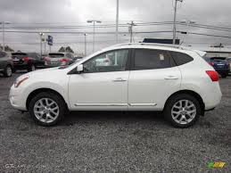 nissan rogue exterior pearl white 2012 nissan rogue sl awd exterior photo 55609372