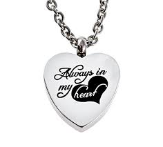 heart urn chapel hill memorial park always in my heart urn necklace