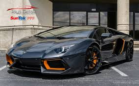 Lamborghini Aventador Grey - lamborghini aventador perfectly protected with suntek ultra ppf