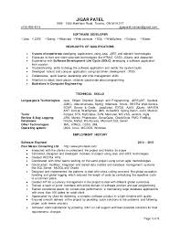 Sample Resume For Java J2ee Developer by Resume Software Developer Jigar Patel