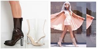 fierce footwear clear heel envy