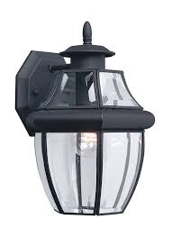 Lowes Outdoor Wall Lights 8038 12 One Light Outdoor Wall Lantern Black