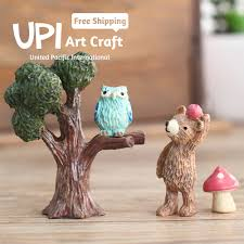 art and craft for home decor cartoon resin home decor handmade art craft forest animals sweet