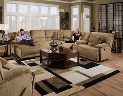 Coffee Table For Sectional Sofa Furniture Chocolate Brown Leather Reclining Sofa With Chaise And