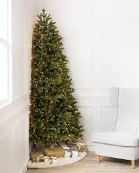 buy brown christmas tree flat back artificial christmas trees balsam hill