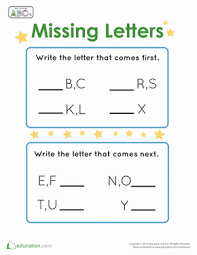 fill in the missing letters worksheet education com