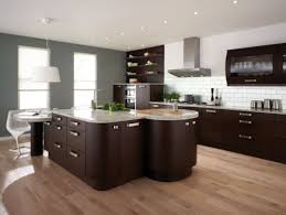 modern kitchen laminate flooring ideas with grey kitchen island