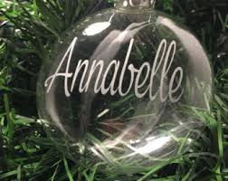etched glass ornaments personalized ornament etsy