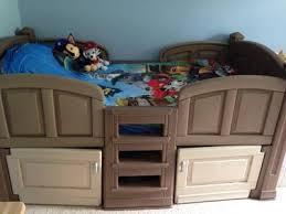 step2 loft twin bed with storage blue u0026 brown walmart com