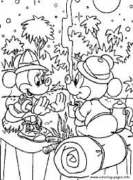 mickey minnie camping disney 58ed coloring pages printable