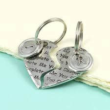 love key rings images Gift for couples love you personalised heart keyring by multiply jpg