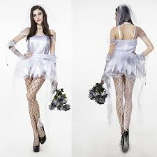 Halloween Costumes Figured Women Horrible Ghostly Corpse Zombie Bride Ladies Halloween Costume
