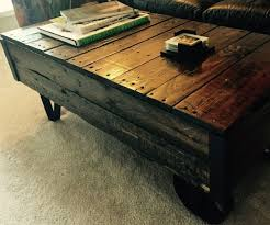 Industrial Cart Coffee Table Coffee Table Industrial Cart With Pictures