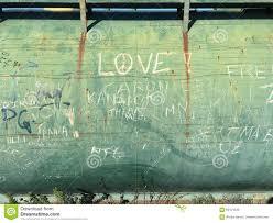 graffiti on green wall stock photo image 69121538