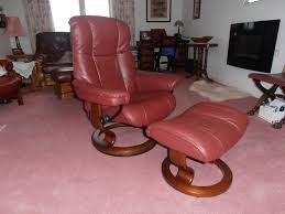 Red Leather Chair Furniture Comfortable Red Leather Recliner With Ikea Side Table
