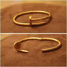 size cartier bracelet images Juste un clou cartier copy gold nail bracelet celebrity inspired jpg