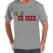 men u0027s christmas shirt oh deer shirt funny christmas present