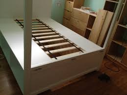 Storage Bed Diy Ana White Canopy Storage Bed Diy Projects