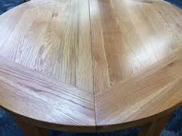 Vancouver Oak Coffee Table - vancouver oak round extension dining table