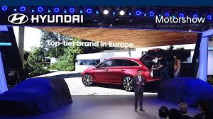 hyundai motor at 2017 frankfurt motorshow press conference youtube