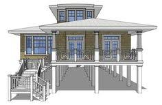 small beach house on stilts amazingplans com house plan dt0068 sea oats beach pilings