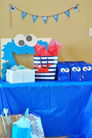 cookie monster baby shower sesame street party james u0027 cookie monster first birthday bash