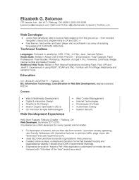 Resume Sample Using Html by Professional Web Developer Resume Template Vntask Com