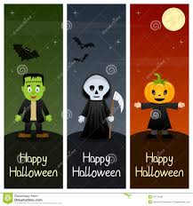 Halloween Banners by Halloween Monsters Vertical Banners 2 Stock Vector Image 44724095