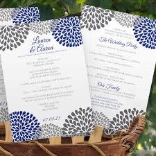 Cheap Wedding Program Fans Wedding Program Fans Chrysanthemum Gray U0026 Royal Blue