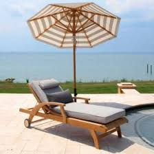 outdoor cushions piped teak chaise country casual