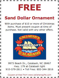 discount coupons free sand dollars myrtle coupon