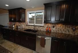 backsplash for dark cabinets and dark countertops image result for cherry wood floor and cabinets black granite