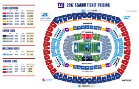 Stadium Plan Giants Com Metlife Stadium Maps